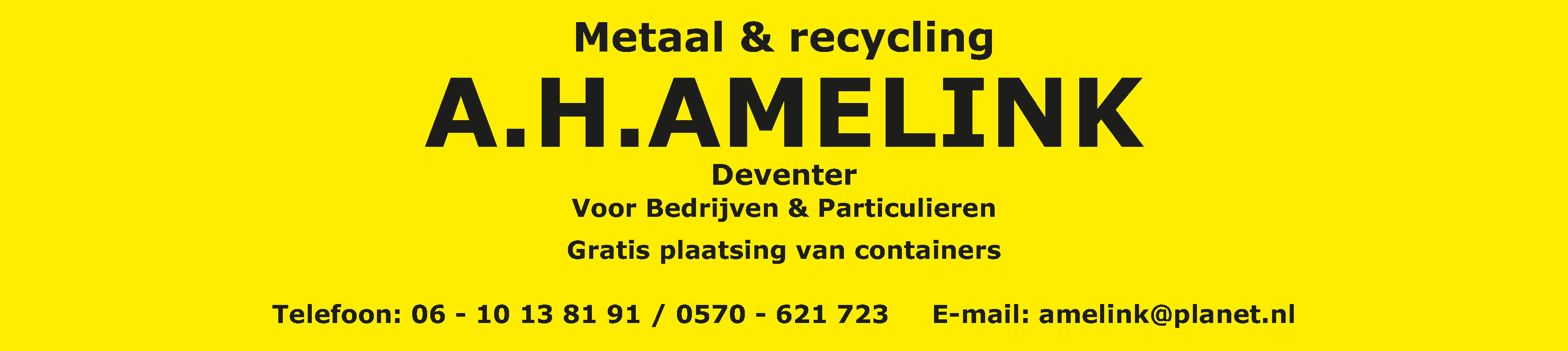 A.H. Amelink Metaal & Recycling